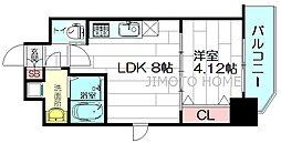 WE大阪緑地公園[9階]の間取り