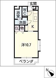 ルミエールハイム24[2階]の間取り
