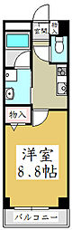 ソレアード中青木[3階]の間取り