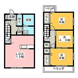 [一戸建] 愛知県名古屋市中川区八家町3丁目 の賃貸【/】の間取り