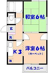 三宅ハイツ[2階]の間取り