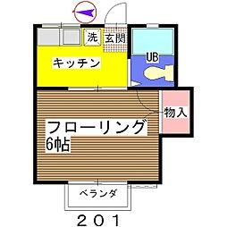 サンコート館山[201号室]の間取り