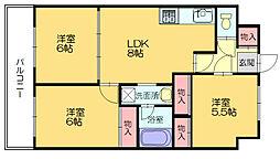 第23川崎ビル[6階]の間取り