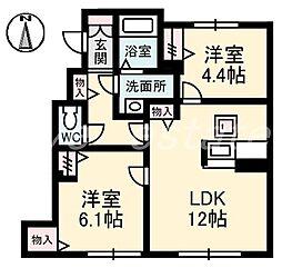 シャーメゾン クオレール[1階]の間取り