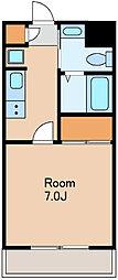 JR総武線 荻窪駅 徒歩9分の賃貸マンション 1階1Kの間取り