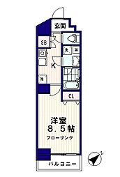 ドゥーエ東高円寺[4階]の間取り