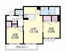 BEREO Comfort Kitashimada A棟[302号室]の間取り