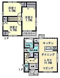 [一戸建] 香川県高松市小村町 の賃貸【/】の間取り