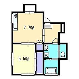 広島県広島市東区牛田中2丁目の賃貸アパートの間取り