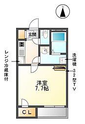 クレイノYAMAKO V[2階]の間取り