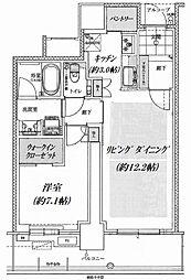 グランドメゾン新梅田タワー 11階1LDKの間取り