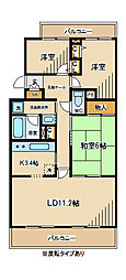 東京都府中市天神町1丁目の賃貸マンションの間取り
