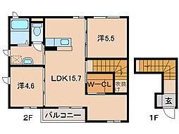 シャーメゾン縁[2階]の間取り