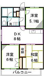 第2ゼルコバマンション[2階]の間取り