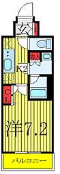 東京メトロ南北線 志茂駅 徒歩9分の賃貸マンション 2階1Kの間取り