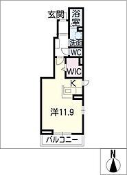 サンリット青柳 D棟[1階]の間取り