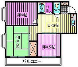 スカイハイツ桜木[301号室]の間取り