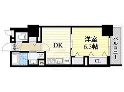 フレール江坂レジデンシャル[7階]の間取り