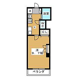 レジデンス花菱[3階]の間取り