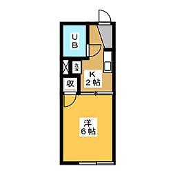 フレグランス76[1階]の間取り