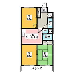 ジニアス塩澤[4階]の間取り