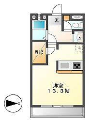 鹿子ビル[4階]の間取り