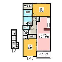 グラン ソレイユI[2階]の間取り