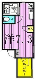 東京都足立区梅田1丁目の賃貸アパートの間取り