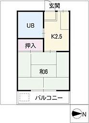 第二横井マンション[1階]の間取り