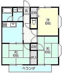 プライムタウン[1階]の間取り