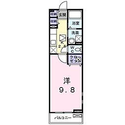 埼玉県春日部市南4の賃貸アパートの間取り