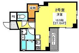 クルーハウス東松戸[402号室]の間取り
