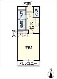 ミレニアムロード[2階]の間取り