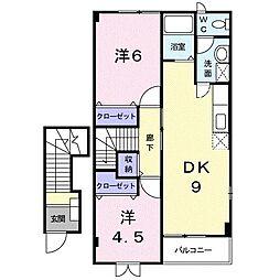 ボヌールM II[0203号室]の間取り