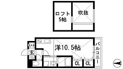 モンソーエトワール[2階]の間取り