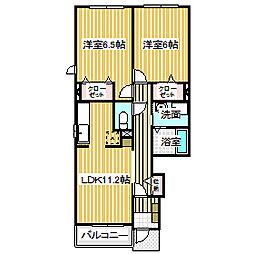 愛知県名古屋市中川区一色新町2丁目の賃貸アパートの間取り