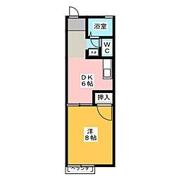 アークガーデン茄子[2階]の間取り