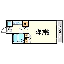 パシフィック南武庫之荘[1階]の間取り