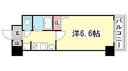 兵庫県神戸市中央区南本町通5丁目の賃貸マンションの間取り