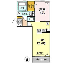 セジュール シンワ[203号室]の間取り