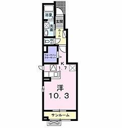 アッシュ8 A[1階]の間取り