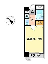 愛知県名古屋市西区児玉3丁目の賃貸マンションの間取り