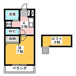 ローズ日高II[2階]の間取り