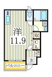 バート ツィート[1階]の間取り