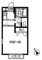 神奈川県横浜市金沢区釜利谷東3丁目の賃貸アパートの間取り