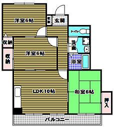 メゾン柳風台[2階]の間取り
