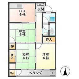 三門マンション[2階]の間取り