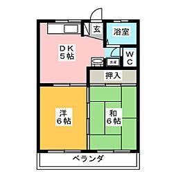 ハイツ早川[1階]の間取り