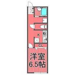 藤棚テラスハウス[1階]の間取り