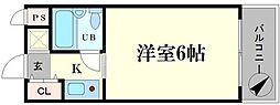 ビバリーヒルズ本田西[5階]の間取り